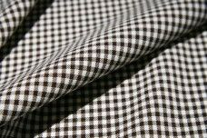 Mini Gingham Gabardine - Brown