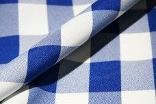 Large Gingham Gabardine -  Royal