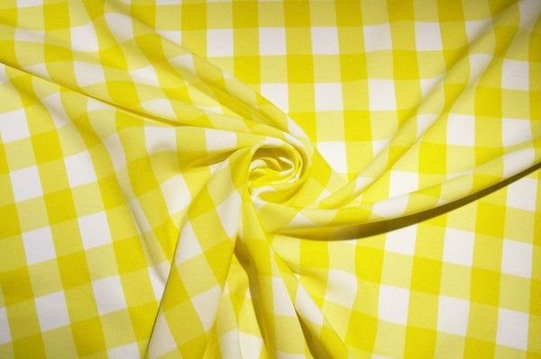 Large Gingham Gabardine - Lemon