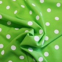 White Dot Gabardine - Lime