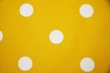 White Dot Gabardine - Yellow