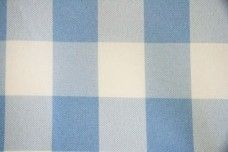 Large Gingham Gabardine -  Light Blue