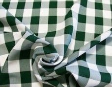 Large Gingham Gabardine - Forest