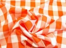 Large Gingham Gabardine - Orange