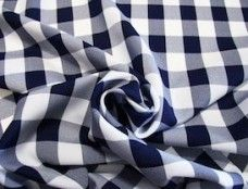 Large Gingham Gabardine - Navy