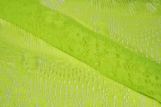 Neon Yellow Scallop Lace