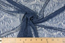 Navy Scallop Lace