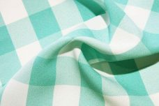 Large Gingham Gabardine - Tiffany Blue