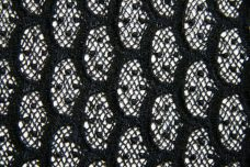 "Black 28"" Scalloped Rayon Lace"
