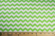 "3/8"" Chevron Flannel - Lime"