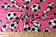 Pink Soccer Ball Flannel