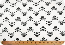 Chevron Skulls - White