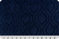 Embossed Marquise - Navy