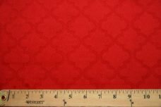 Embossed Moroccan Tile - Red