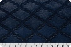 Embossed Lattice - Navy