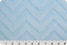 Embossed Chevron - Baby Blue