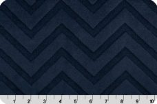 Embossed Chevron - Navy