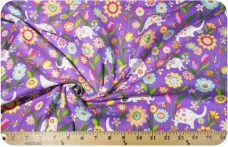 Sparkle Purple Elephant Flannel