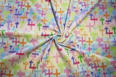 Pastel Crosses Flannel