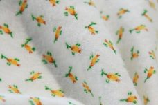 Tiny Rosebud Flannel - Yellow
