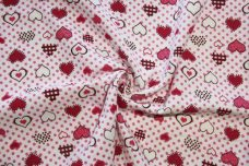 Bubble Gum Hearts Flannel