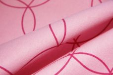 Pink Overlapping Circle Flannel