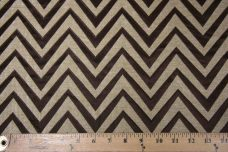 Chevron Chenille - Brown
