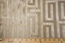 Modern Geometric Chenille - Taupe