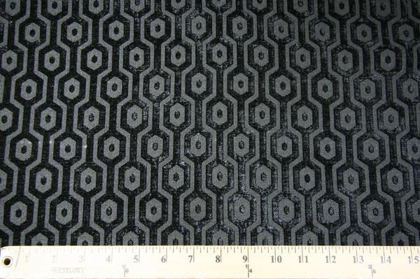 Hexagon Chenille - Black