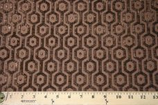 Hexagon Chenille - Brown