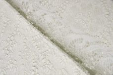 Large White Floral Knit Polyester Lace