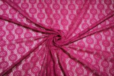 Fuchsia Geo Dot Cotton/Poly Knit Lace