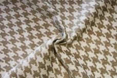 Taupe Houndstooth Chenille