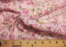 Pink Floral Stretch Lace