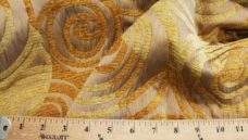 Large Geometric Swirl Chenille - Gold