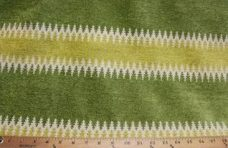 Ethnic Stripe Chenille - Green
