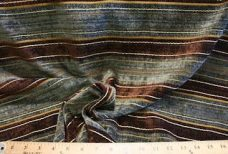 Brown & Steel Stripe Chenille
