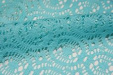 Aquamarine Open Knit Cotton/Poly Lace