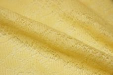 Pale Yellow Knit Poly/Cotton Lace