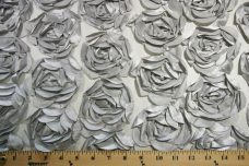 Jumbo Floral on Mesh - Silver