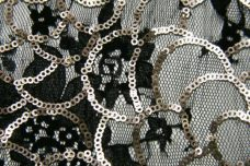 Embroidered Floral Sequin Lace