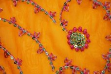 Flourish Sequin Chiffon - Orange