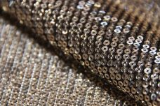 Mini Sequin Mesh - Gold