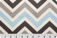 Large Chevron - Baby Blue & Silver