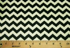 Small Chevron - Black / Light Green