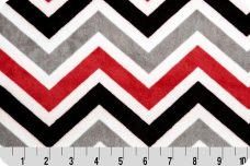 Large Chevron - Black & Red