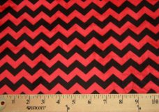 Small Chevron - Black / Red