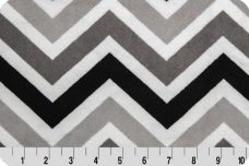 Large Chevron - Black & Silver
