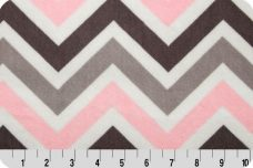 Large Chevron - Blush & Silver