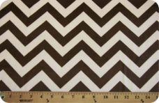 Large Chevron - Brown & Cream